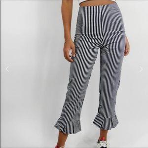 NWT Wild Honey Palmer Striped Flared Ruffle Pants